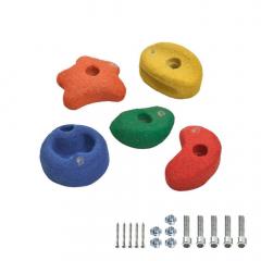 5 Appigli colorati per arrampicata 90 mm  620709